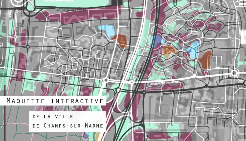 Maquette interactive de la ville de Champs sur Marne